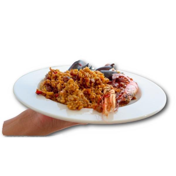 Paella mit Meeresfruechten